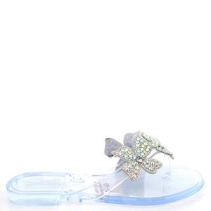 Clear Rhinestone Jelly Sandals